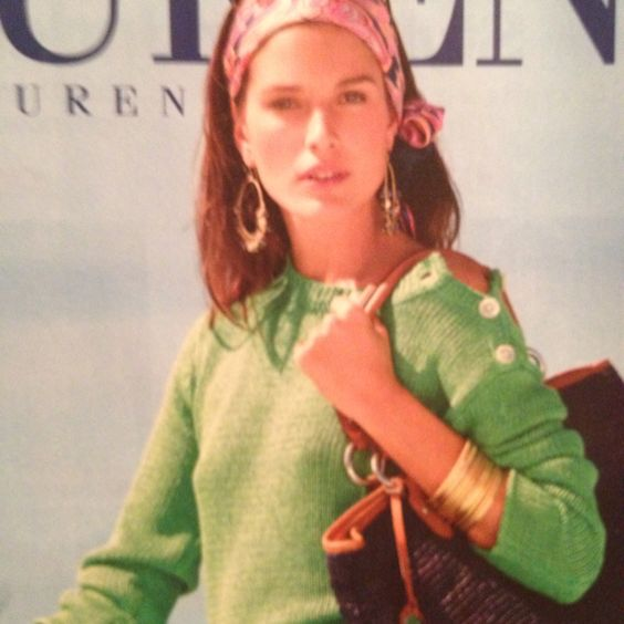 Dressing with color and accessories. {Ralph Lauren}