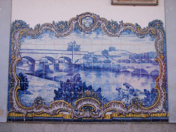 Painel de Azulejos: Ponto do Rio Caia - Elvas