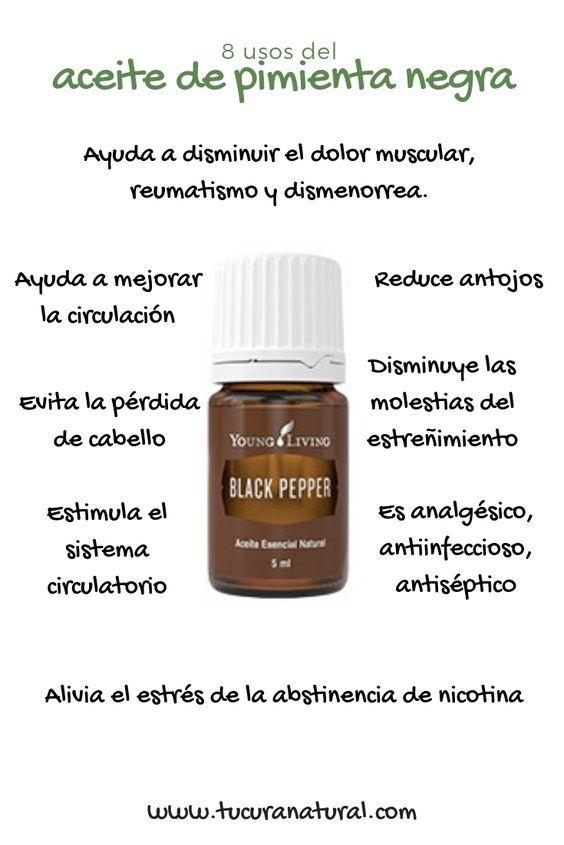 uso del aceite de pimienta negra