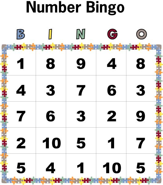 Number Bingo Worksheets : Preschooler Education : Preschoolers ...
