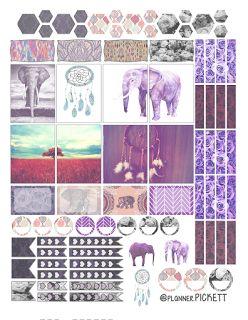 FREE @planner.PICKETT: Dreaming of BOHO free sticker printable