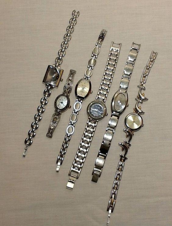 Vintage Women's Watch Lot Silver Parts Resale Repair Crafts Steampunk Assemblage