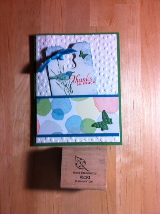 Cute Ty card with new embossing folder and paper.
