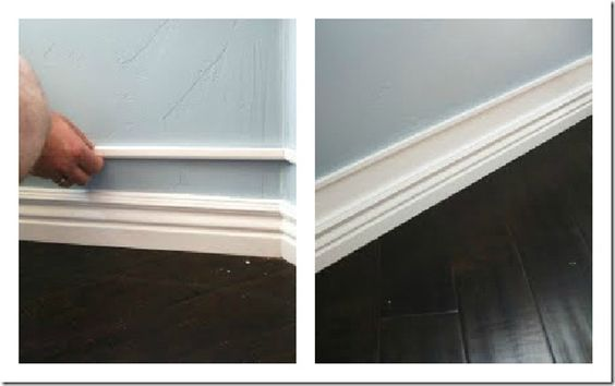 Baseboards the wall and couple on pinterest for Cost to paint baseboard