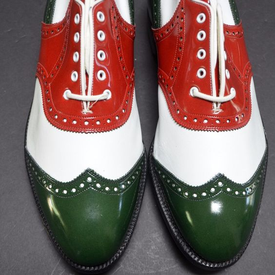 JOHNSTON MURPHY NEW Mens Golf Shoes 9.5D Made in USA VINTAGE Metal Spikes #JohnstonMurphy