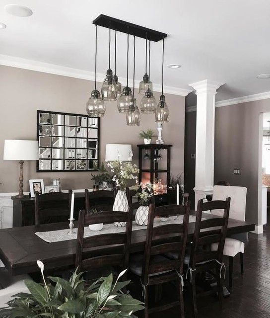Eagan Large Multipanel Wall Mirror Dark Dining Room Dining Room Design Dining Room Decor Traditional