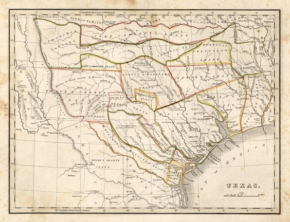 1835 Bradford Map Historic maps of Texas and Mexico – Show Mexico on World Map