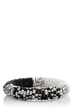 Cato Fashions Black & White Seed Bead Bracelet #CatoFashions