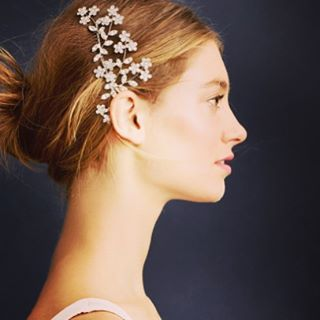 Opting not to use a veil on your wedding day? The Jennifer Behr Jasmine Comb is a great alternative. Pin it into your sleek up-do wedding hair, the Swarovski crystals in this piece will shine as bright as you as you walk down the aisle.