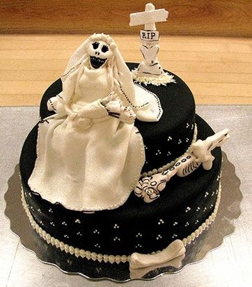 7. Ghostly Bride Cake   Perfect for the Day of the Dead