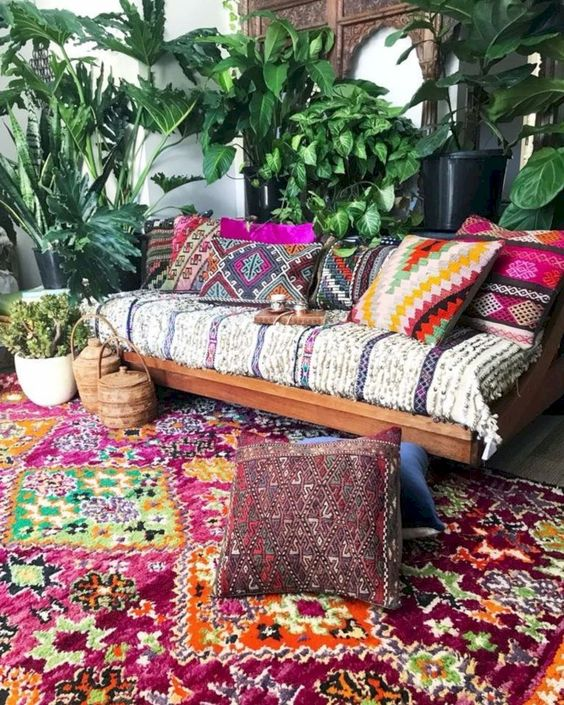 nice 52 Cool Living Room Designs Ideas In Boho Style