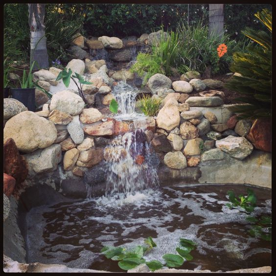 My backyard waterfall and pond things i adore for Yard ponds and waterfalls