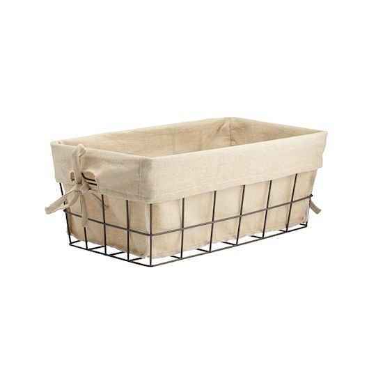 Metal Wire Storage Basket With Liner By Ashland In 2020 Wire