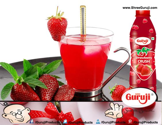 Enjoy this weekend with Sweet and Nutritious Guruji Strawberry Crush!!!