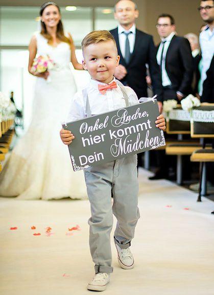 Onkel Andre, hier kommt Dein Mädchen | Schild | Fliege | Page Yoy | Ring Bearer | Ringträger | here comes the bride | hier kommt die Braut