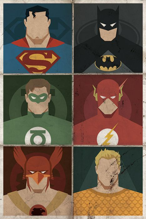 Minimalist DC Superhero Poster - by Michael B. Myers Jr.  Website   Twitter    Facebook  also check out Michael'sVintageMinimal DC Posters