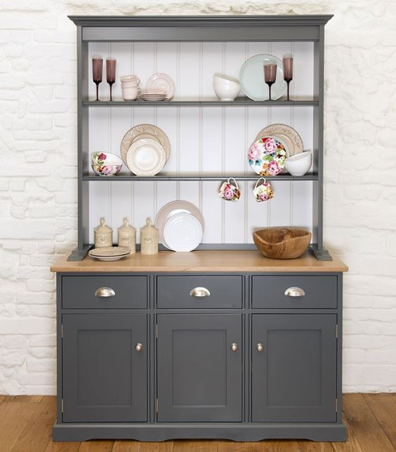 Free standing painted kitchen dressers & kitchen larders