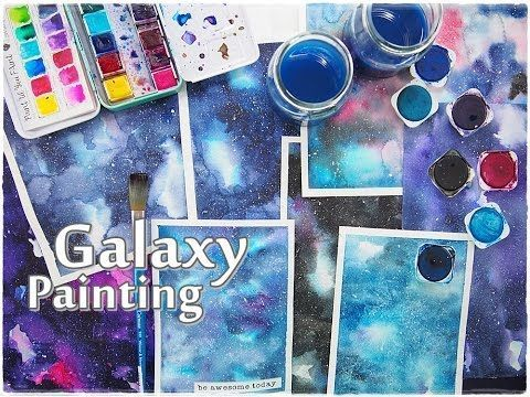 Beginners Galaxy Painting Watercolor Tutorial Maremi S Small