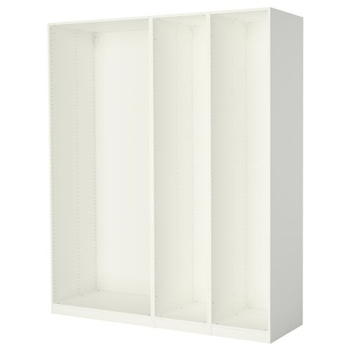 Mehamn Pair Of Sliding Doors White Stained Oak Effect White 59x92 7 8 150x236 Cm In 2020 Ikea Pax Wall Paneling Ikea