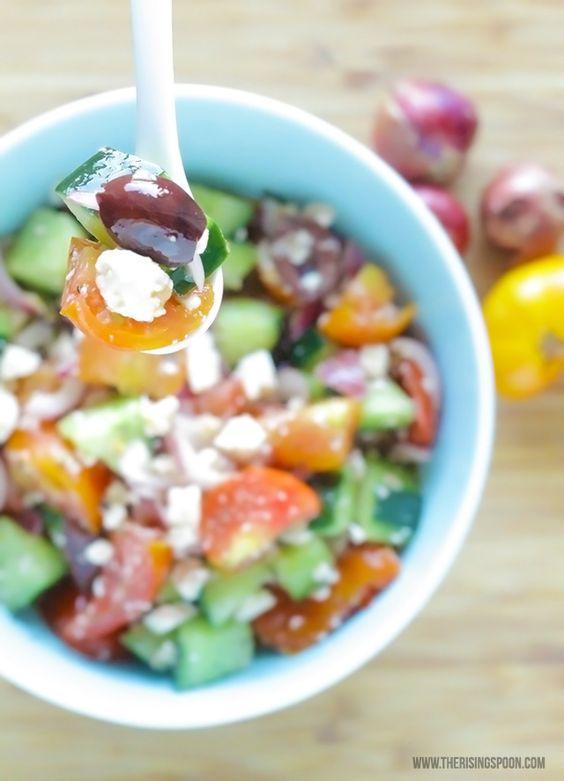 Greek salad, Olives and Dressing on Pinterest