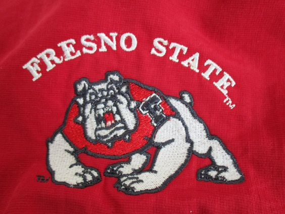 Fresno State Bulldogs Hooded Jacket Zip Front Nylon Fleece Sweat Shiirt XXL Mens #GearforSports #FresnoStateBulldogs