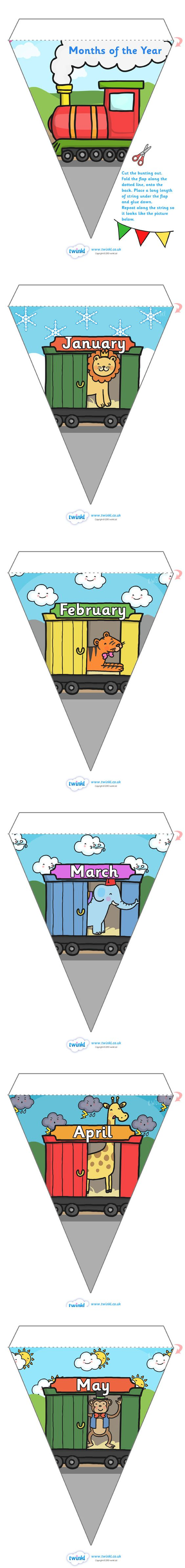 Calendar Ideas Twinkl : Twinkl resources gt months of the year animal train on