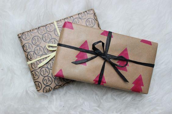Geschenkpapier selbst gemacht