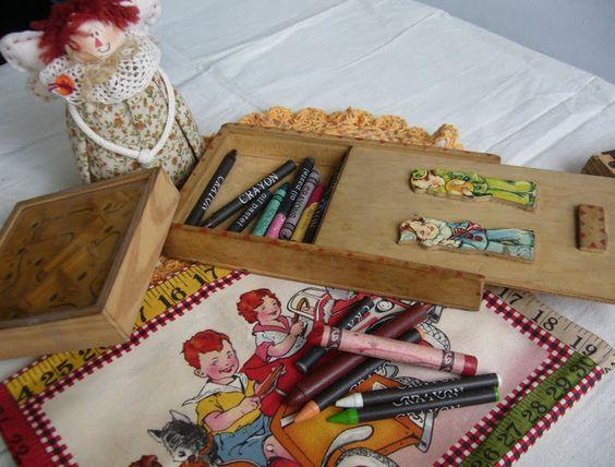 estojo escolar anos 60 | ... Antigo Estojo escolar com Tampa colorida deslizante anos 60/70