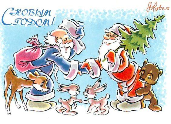 Santa Meets St. Nick (841×611) Christmas