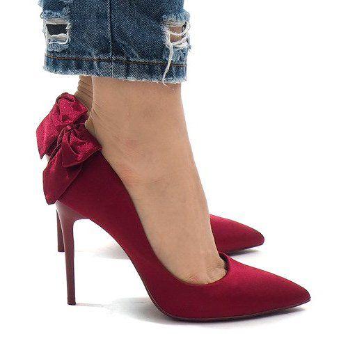 Czerwone Klasyczne Szpilki Kokardka Lb 336 Heels Stiletto Heels Stiletto