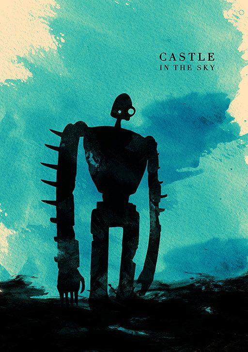The Complete Hayao Miyazaki Minimalist Poster Collection - Le château de dans le ciel