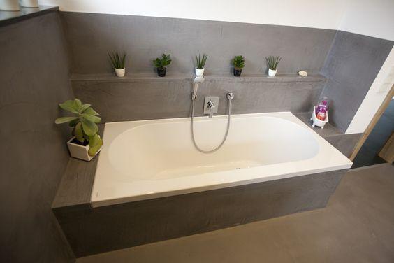 Fugenloses Bad, komplett ohne Fliesen, mit DRACHOLIN Cosmato bad