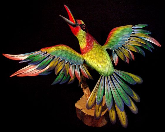 mexico lindo: every feather is a separate piece