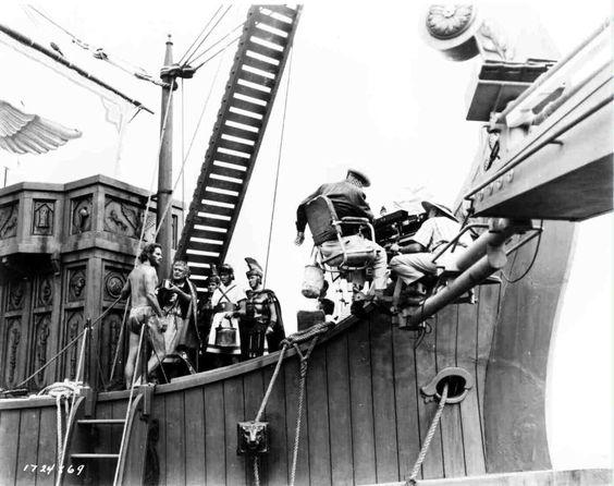 """Shooting the galley scenes in """"Ben-Hur"""","""