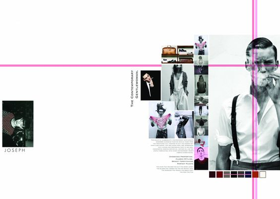 Line of colour to enhance design/text on page