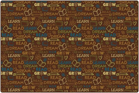 Read to Dream Pattern Rug Nature | CFK1672XX | Carpets for Kids