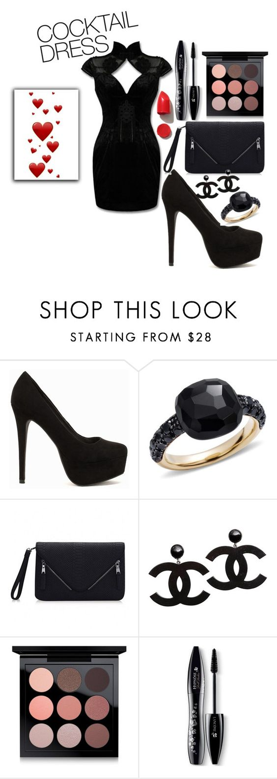 """""""jdjdjd"""" by lugavicaida ❤ liked on Polyvore featuring Nly Shoes, Pomellato, MAC Cosmetics, Lancôme and NARS Cosmetics"""