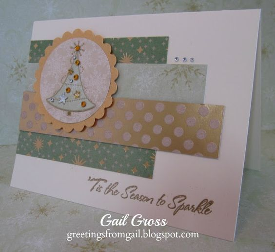 Greetings from Gail: RETRO SKETCHES #79, SWEET STAMPIN' CHALLENGE, and PAPERTAKE WEEKLY CHALLENGE #M1032TreeDelights
