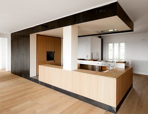 #Wood and #iron apartment, Italy   LCA architetti #interiors #kitchen