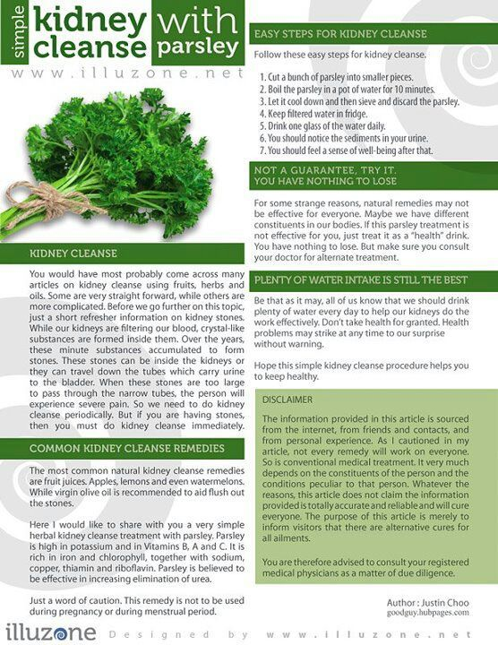 simple kidney cleanse with parsley
