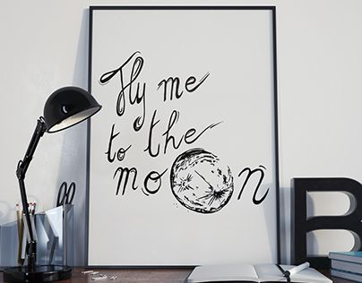 """Check out new work on my @Behance portfolio: """"Fly me to the Moon"""" http://be.net/gallery/35020917/Fly-me-to-the-Moon"""