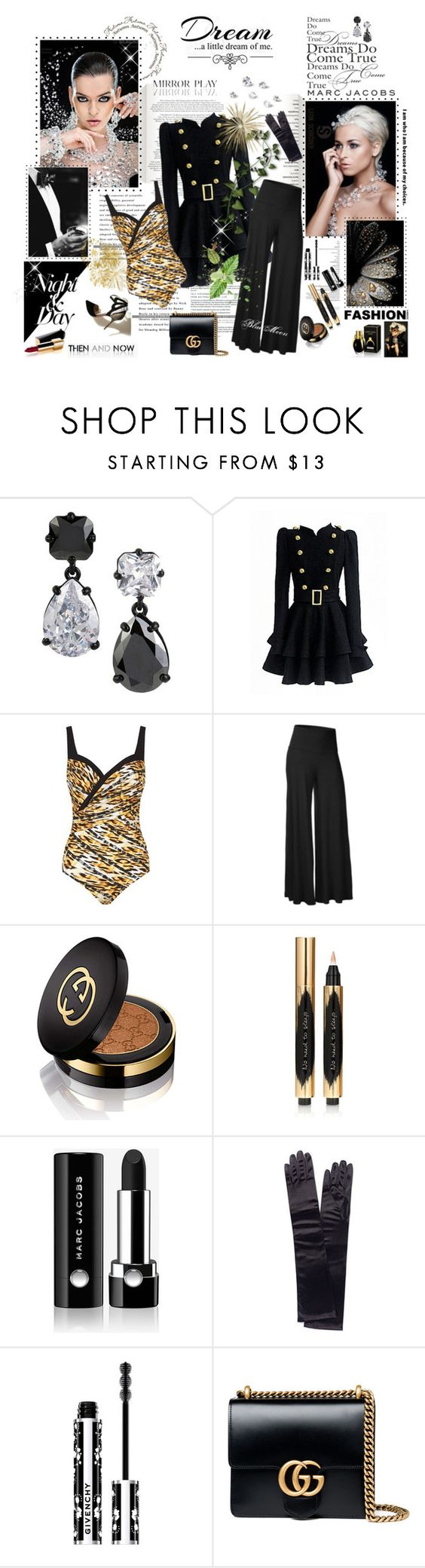 """""""Dream a little dream of me"""" by bluemoon ❤ liked on Polyvore featuring Dolce&Gabbana, Love Quotes Scarves, Betsey Johnson, Marc Jacobs, Chanel, Maryan Mehlhorn, Gucci, Yves Saint Laurent, Monsoon and Givenchy"""