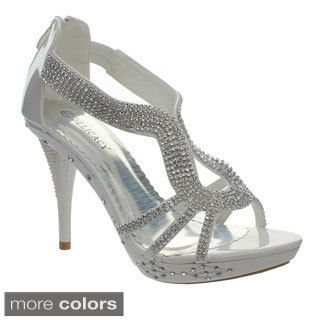 Delicacy Women's 'Delicacy-06' Rhinestone-encrusted Strappy Sandals