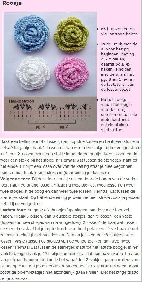 Crochet Roses - Chart ❥ 4U // hf: