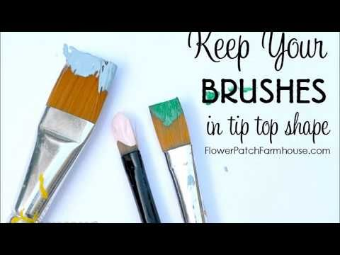 Basic Art Paint Brush Care To Get The Most Life From Your Brushes I Have Used Many Methods To Clea Cleaning Paint Brushes Easy Paintings Acrylic Paint Brushes