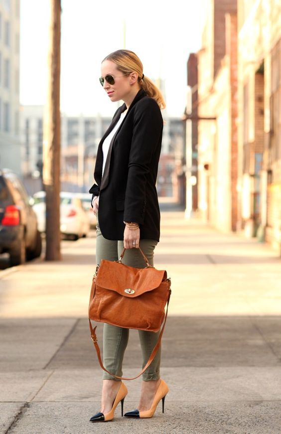 neutral mixed outfit