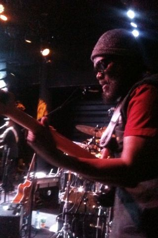 Aston Familyman Barrett and The Wailers with Aston Barrett Jr on drums at the Brooklyn Bowl in London: