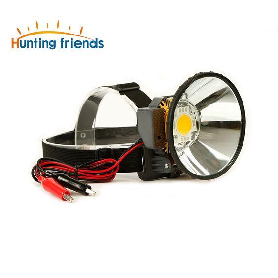 12V External DC Power LED Headllamp Zoom Light Headlamp Large Spot Head Torch