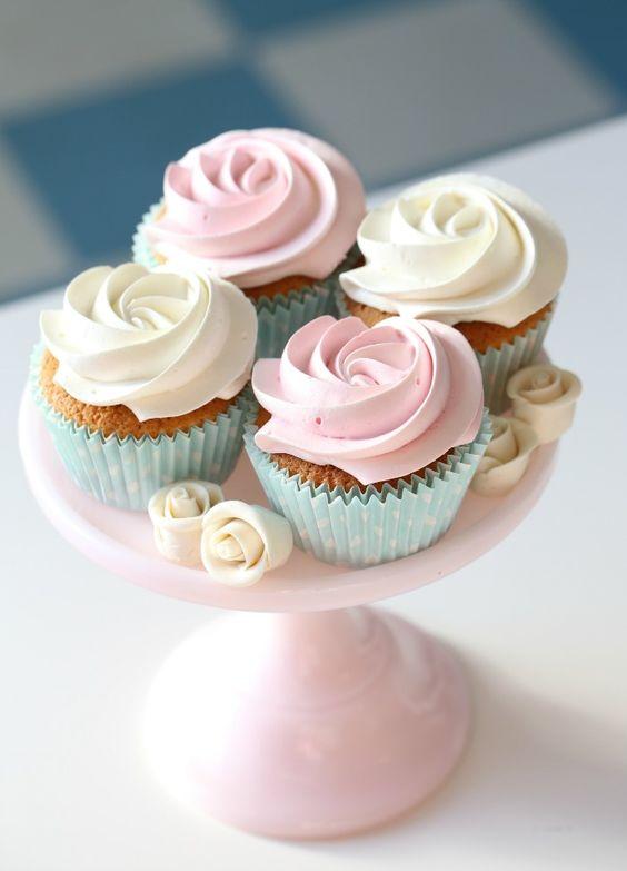 my cupcakes made with Manuelas Vanilla cupcake mix
