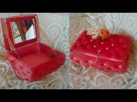 طريقة و لا اسهل لصنع صندوق فخم للاكسسوارات تحفة فنية Youtube Box Bracelet Crafts Decorative Boxes